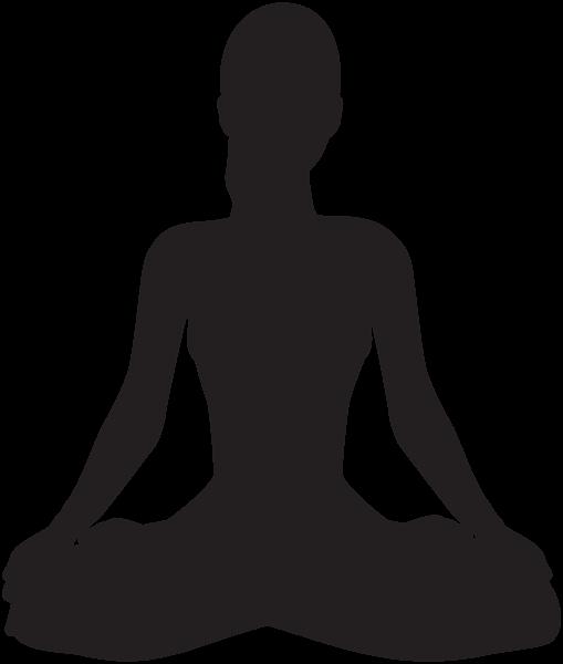 transparent download Meditating Silhouette PNG Clip Art