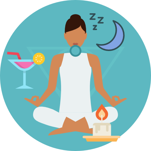 clipart freeuse stock Meditation clipart relaxing music. For sleep relax therapy.