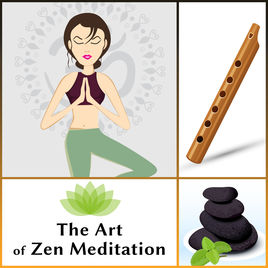clip freeuse library Meditation clipart relaxing music. The art of zen.
