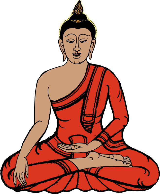 graphic free stock Buddha lord pencil and. Meditation clipart royalty free