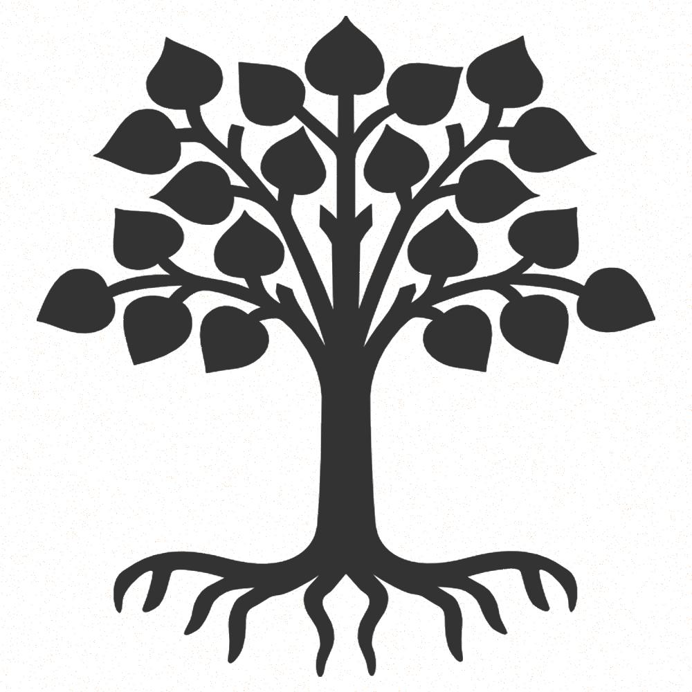 svg royalty free library Meditation clipart tree