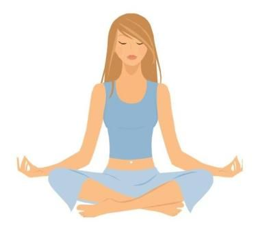 clip art black and white stock Free relaxing clip art. Meditation clipart yoga exercise.