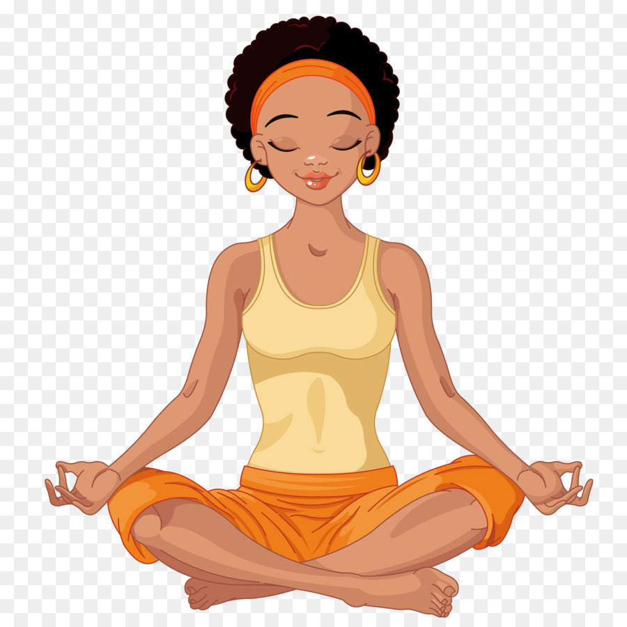 picture library Meditation clipart yoga exercise. Lotus position african american.
