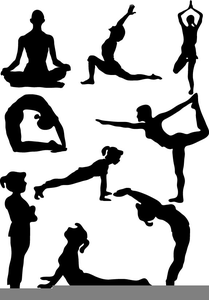 picture free library Meditation clipart yoga exercise. Silhouette poses at getdrawings.