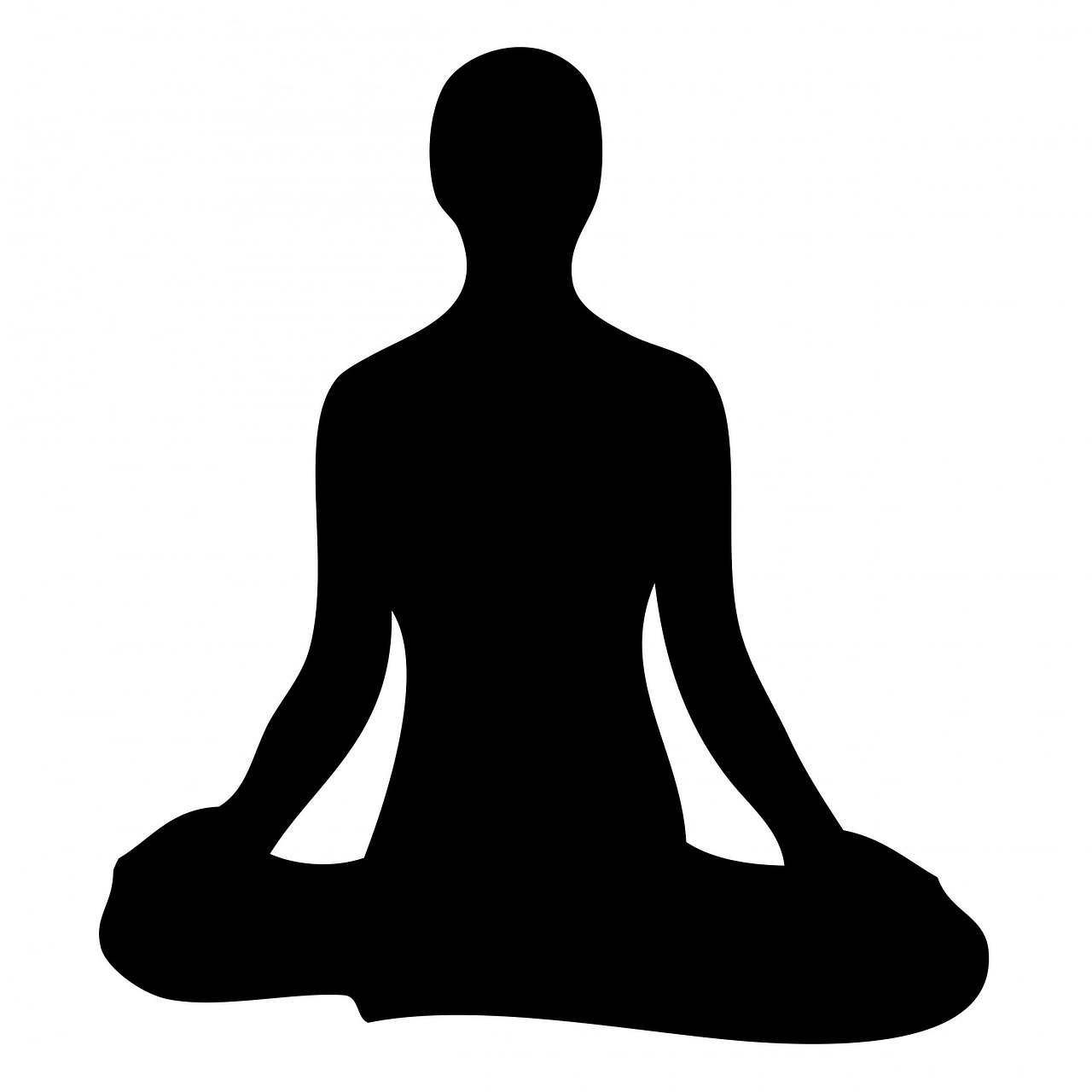 clipart black and white stock Meditation clipart yogasana. Collection of free fluctuability.