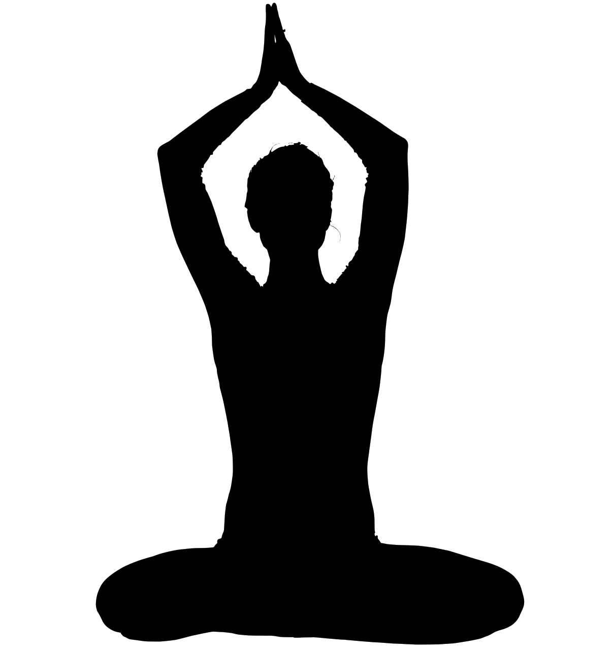 clip art black and white stock Meditation clipart yogasana. What is the right.