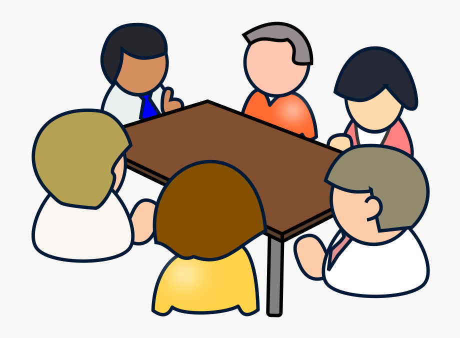 image black and white download Meeting clipart. Diverse clip art meetings