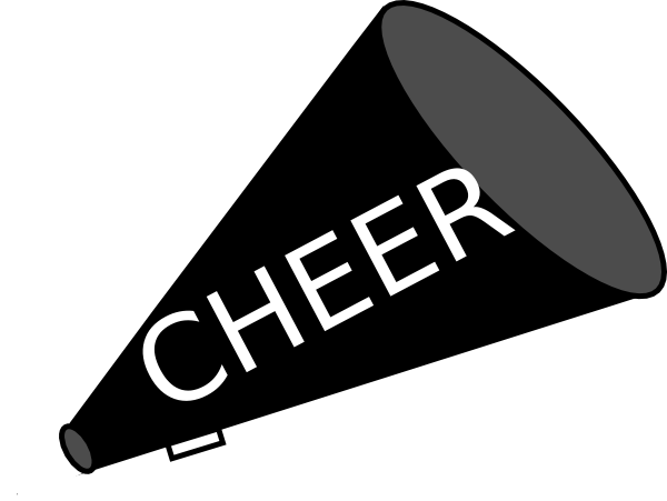 banner download Cheerleading clipart cheerleading coach. Cheer megaphone free sillohette.