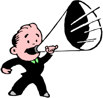 banner free stock People with . Megaphone clipart