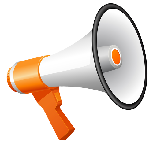 vector freeuse stock  collection of png. Megaphone clipart speakerphone.