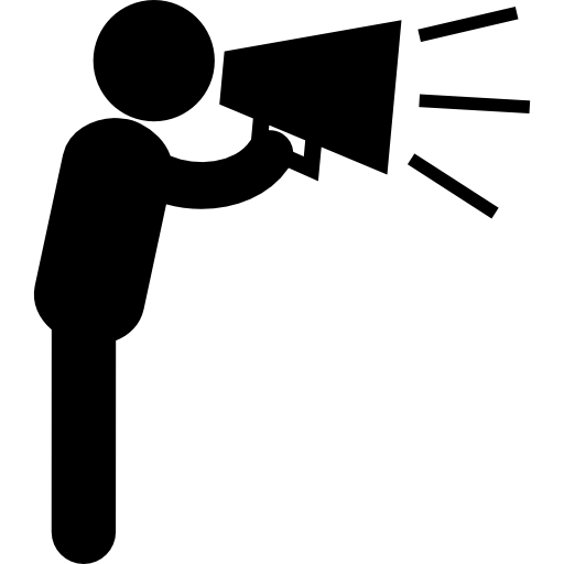 clip royalty free stock Professional and public speaking. Megaphone clipart voice projection.