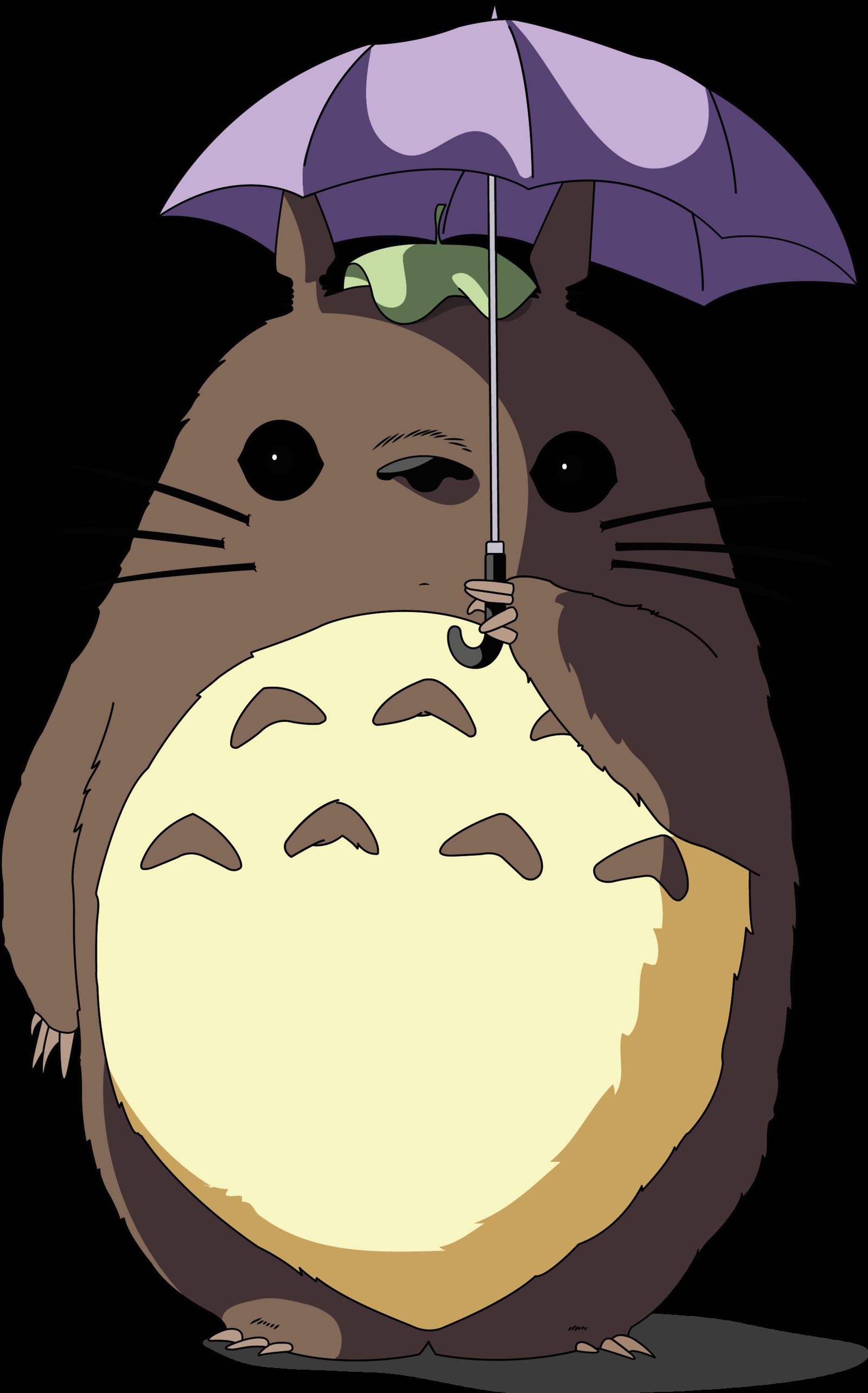 clip art royalty free library Immagine correlata totoro lovins. Drawing running miyazaki