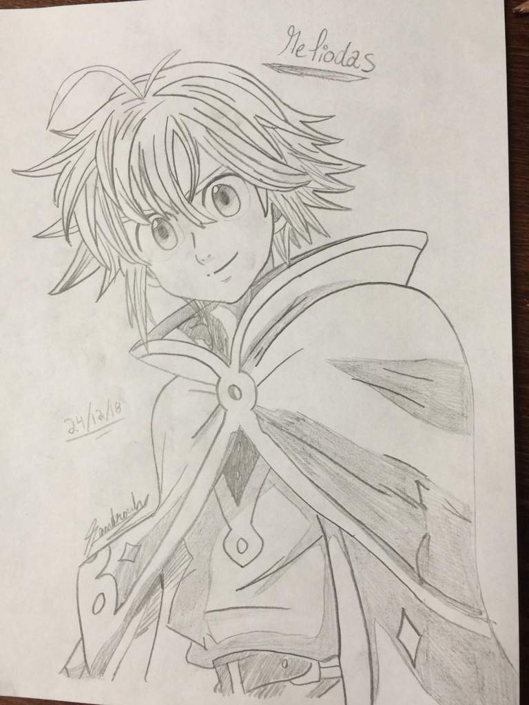 picture free download Meliodas drawing. Seven deadly sins amino.