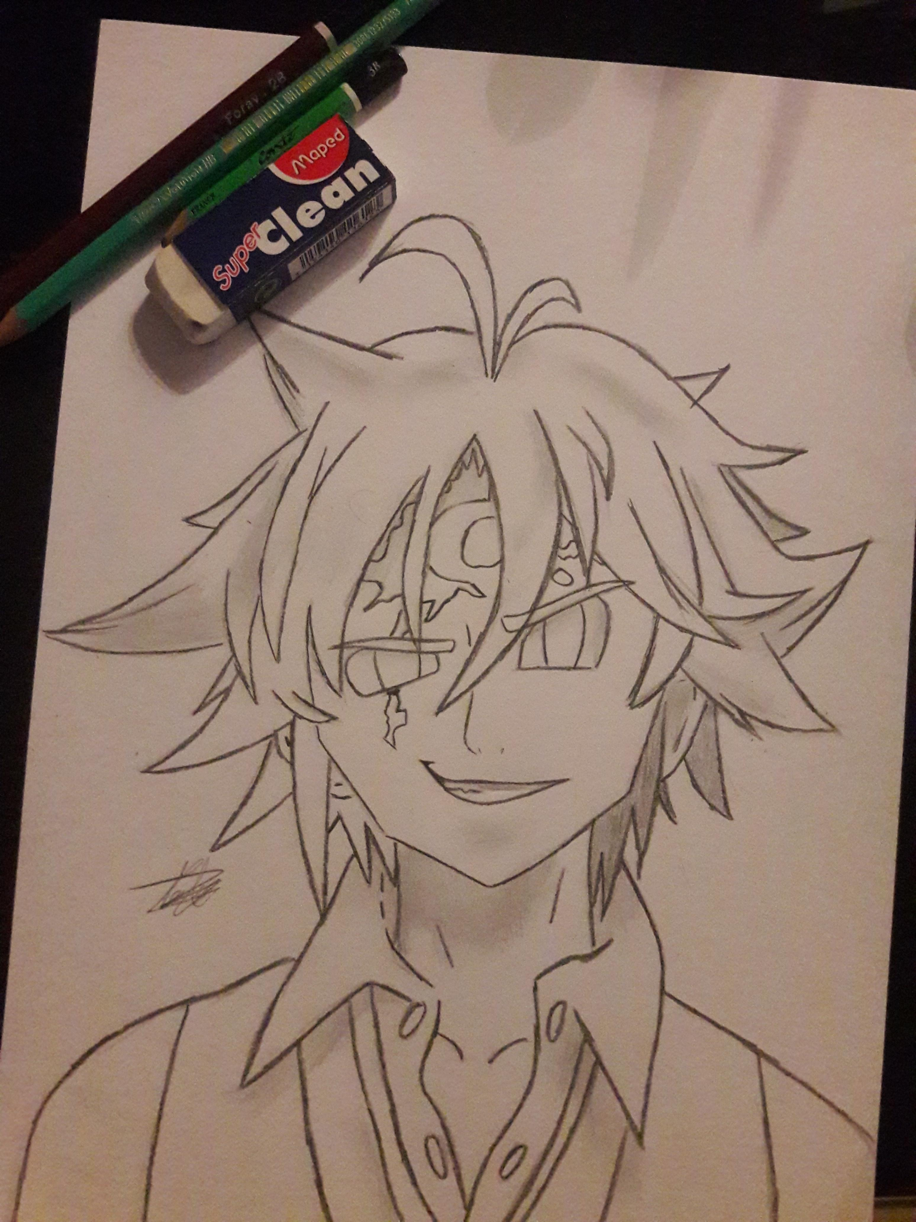 svg royalty free library I tried the best. Meliodas drawing.