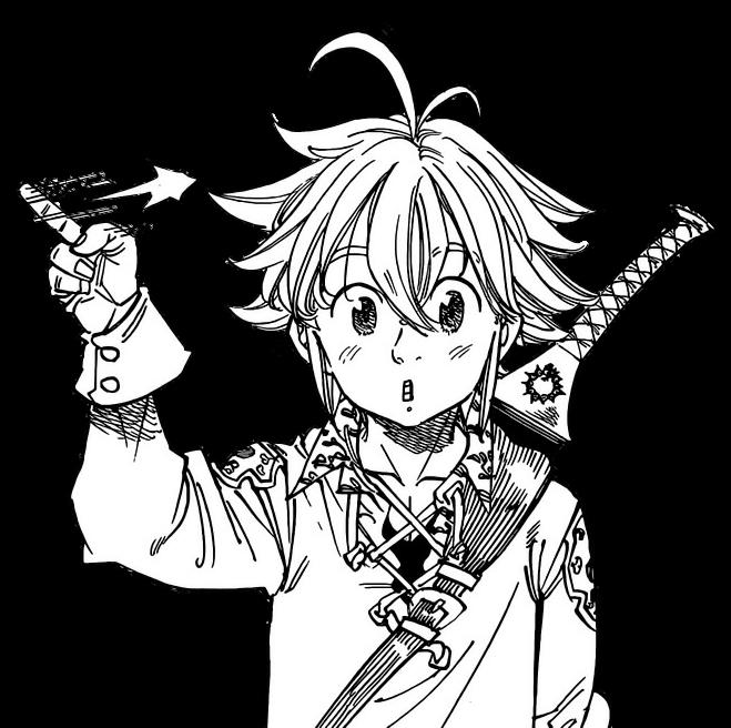clip black and white download Sama nanatsunotaizai thesevendeadlysi meliodassama. Meliodas drawing.