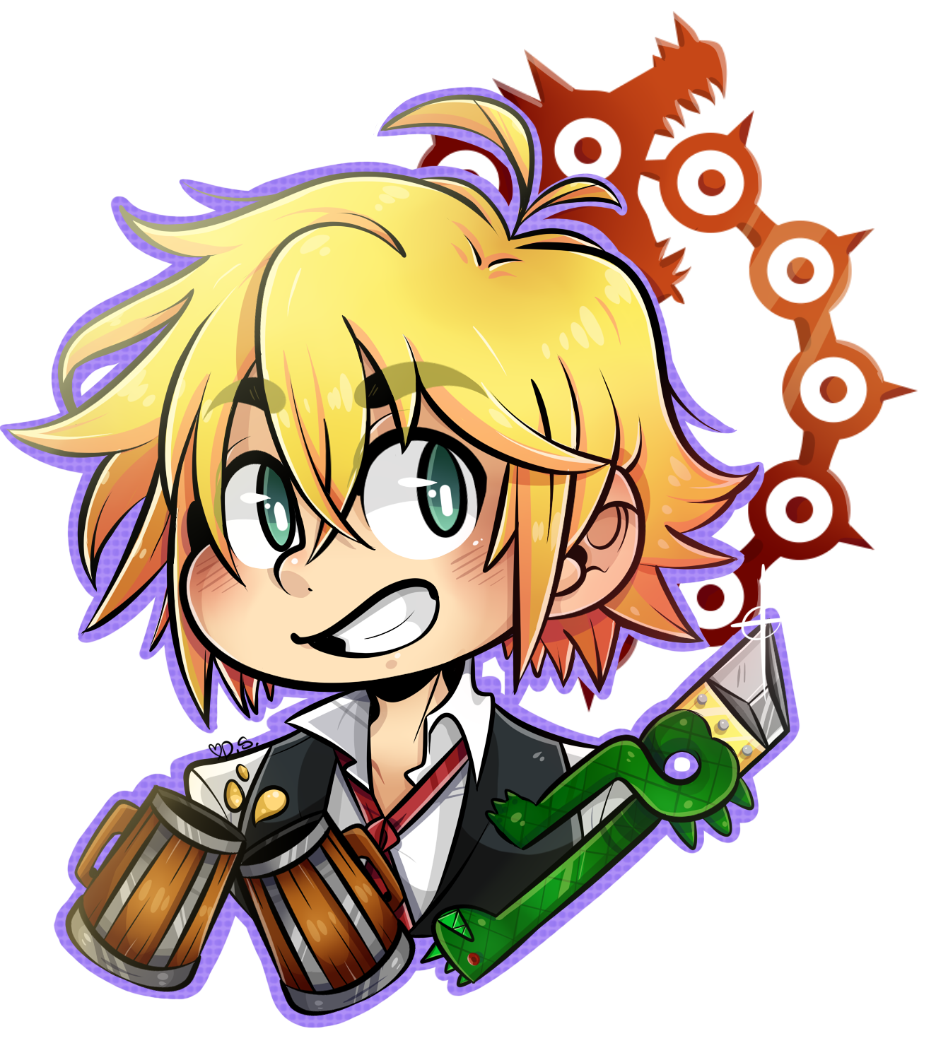 banner freeuse download Sorry the eyes look. Meliodas drawing.