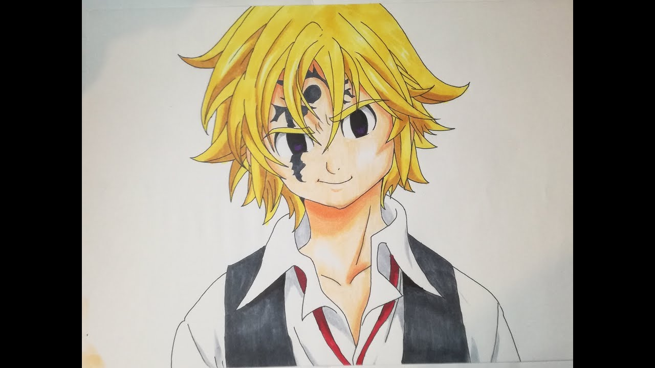 image library Meliodas drawing. How to draw demon.