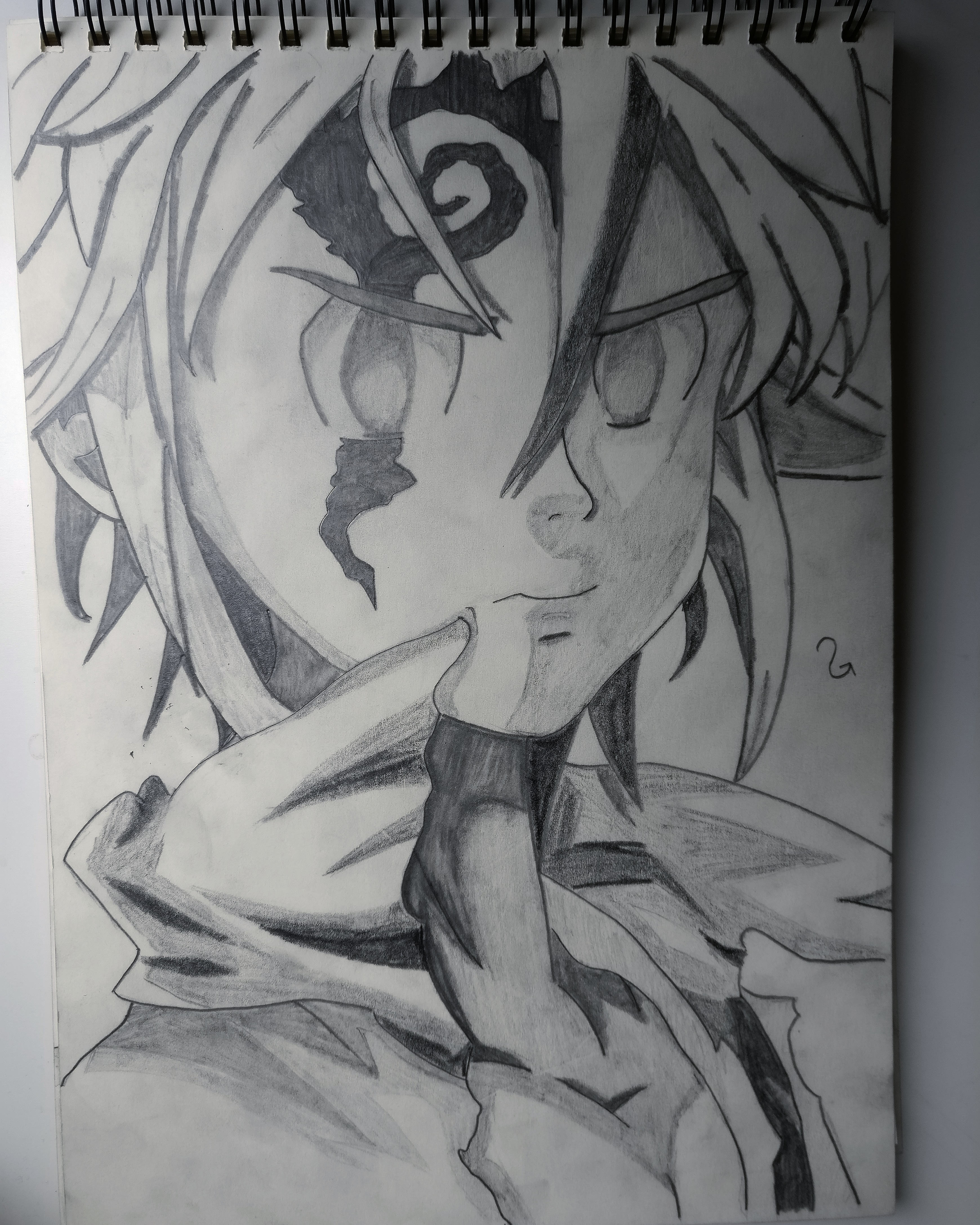 clip freeuse download Meliodas drawing. My submission is a.