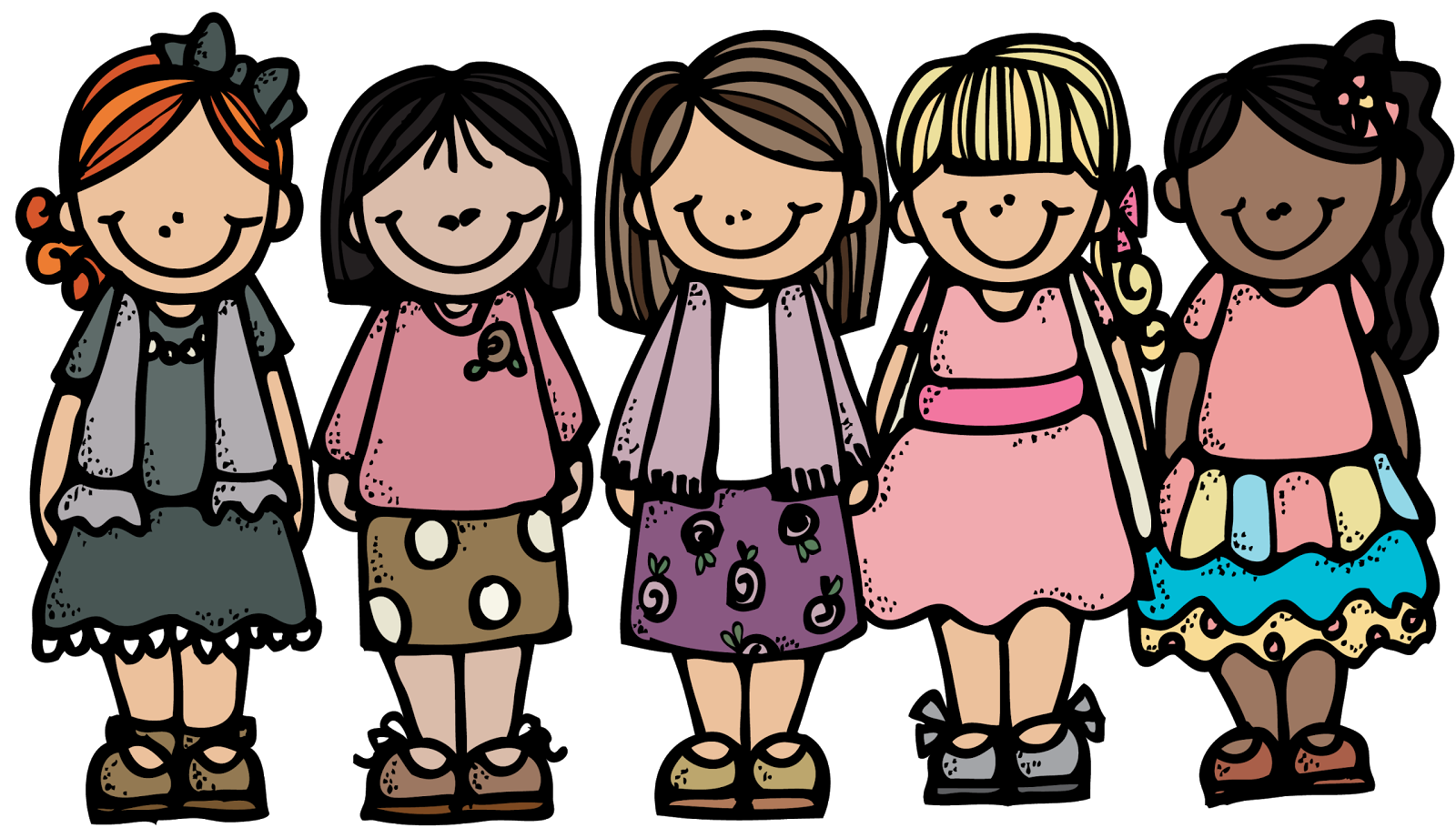 clip art royalty free Activity days girls melonheadz. Youth clipart bunch