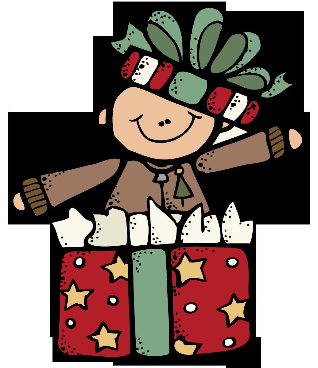 stock Christmas clip art saturday. Melonheadz clipart present.