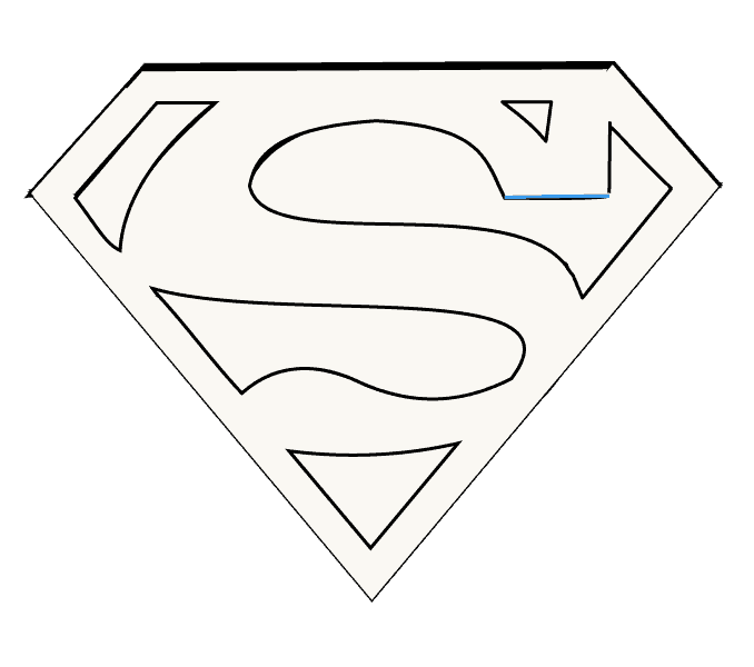 clipart freeuse library Logo how to draw. Drawing superman pop art