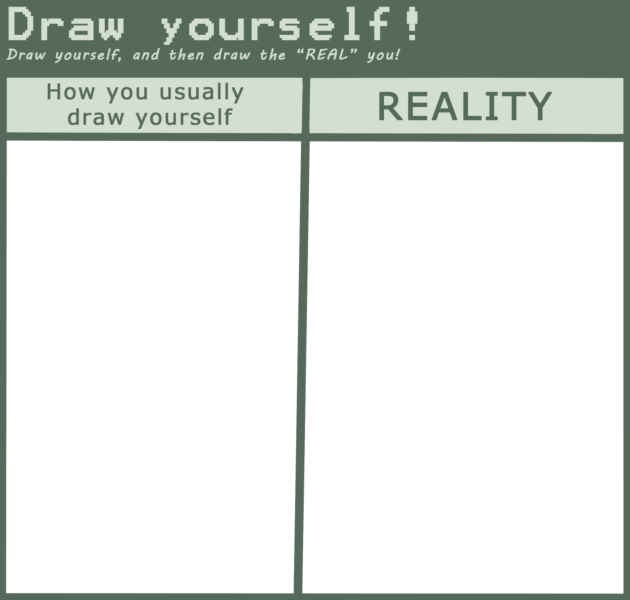 image freeuse download Draw Yourself Meme by SonicFazbear