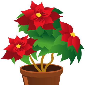 png free stock Christmas greenery and flowers. Memorial clipart altar flower.