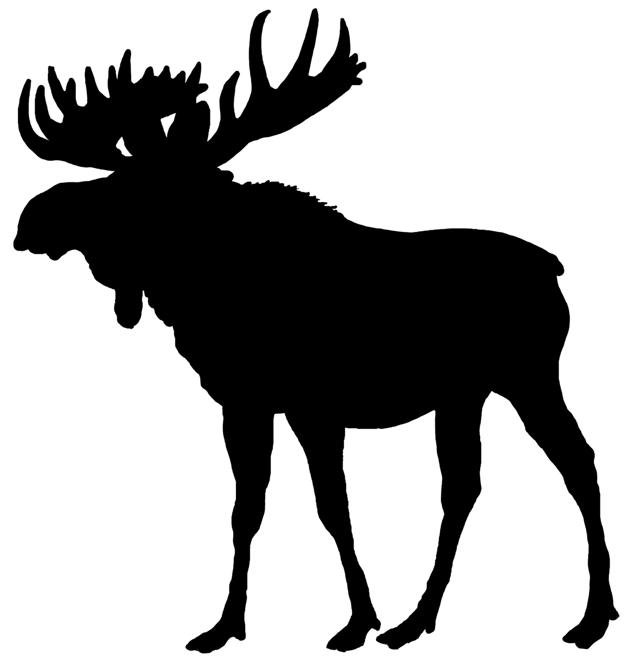 clip black and white stock Animal Silhouette