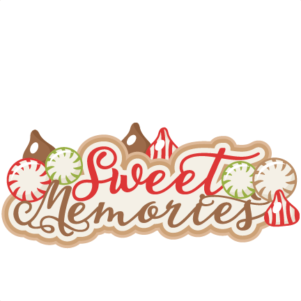 freeuse Memories clipart. Sweet scrapbook title clip.