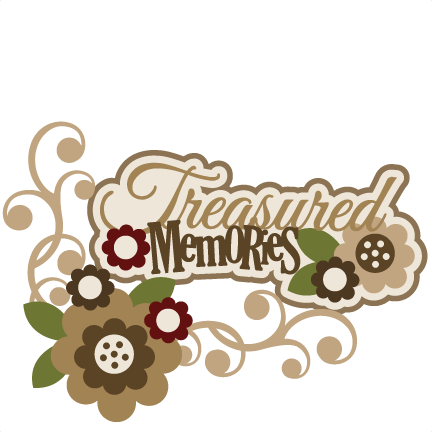 banner library Treasured svg scrapbook title. Memories clipart.