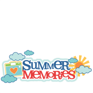 banner royalty free library Memories clipart. Summer title miss kate