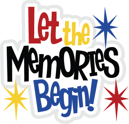 freeuse library Memories clipart. Let the begin svg