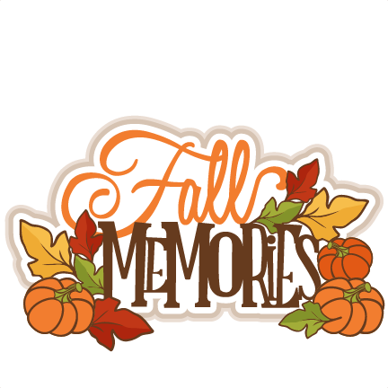 svg free Scrapbooking fall svg files. Memories clipart.