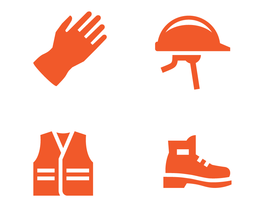 clip freeuse library Sample induction rock safely. Men clipart ppe.