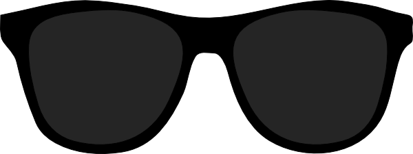 clip black and white stock Sunglasses Black And White Vector
