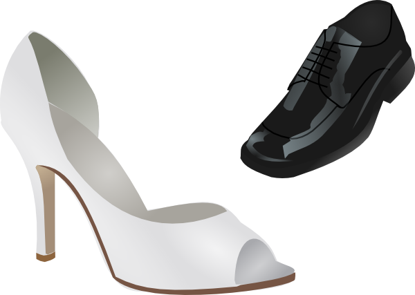 clipart stock Wedding Shoes Clip Art at Clker