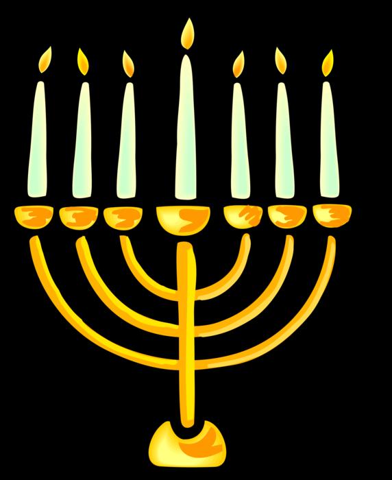 image freeuse Jewish hanukkah candles vector. Menorah clipart lampstand.