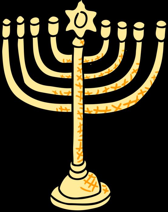 vector royalty free library Menorah clipart lampstand. Jewish hanukkah candles vector.