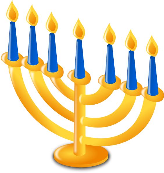 svg royalty free Hanukkah Candles Clip Art at Clker