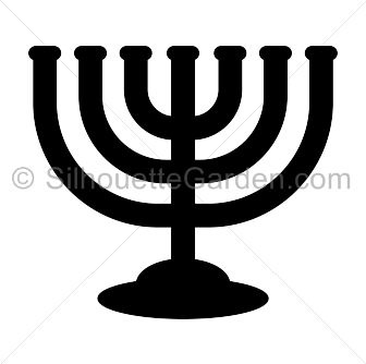 vector freeuse library Menorah clipart svg. Silhouette clip art download.