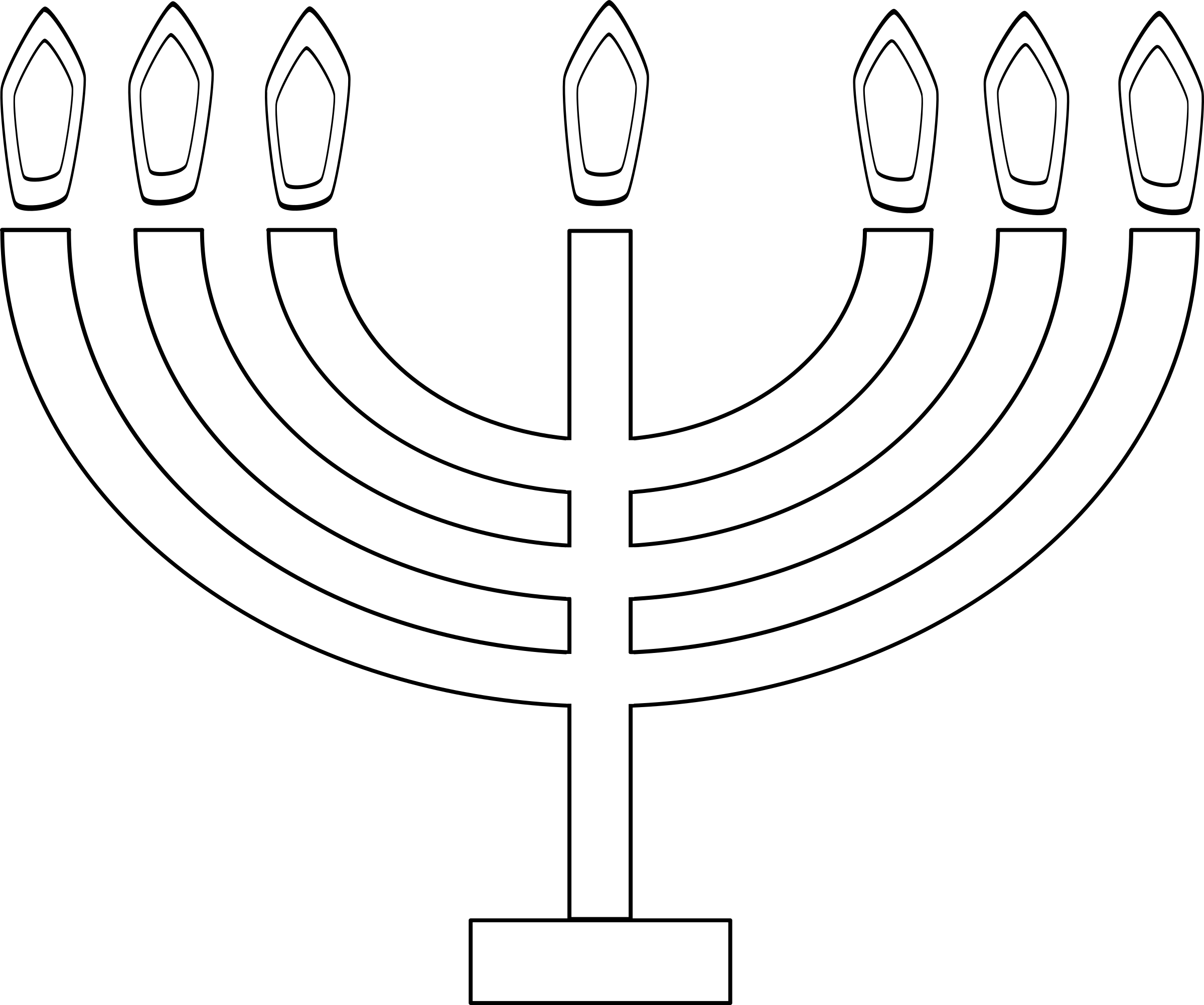 graphic black and white stock Menorahleuchter big image png. Menorah clipart svg.