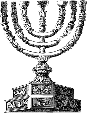 png free Menorah drawing. Temple facts for kids