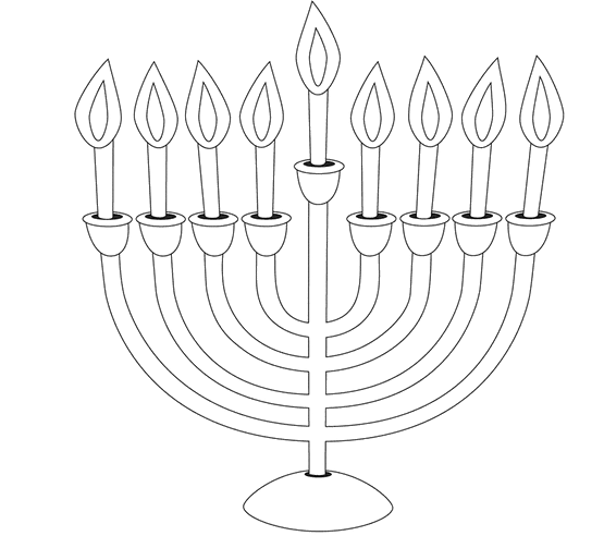 vector free For kids manorah pages. Menorah drawing coloring page
