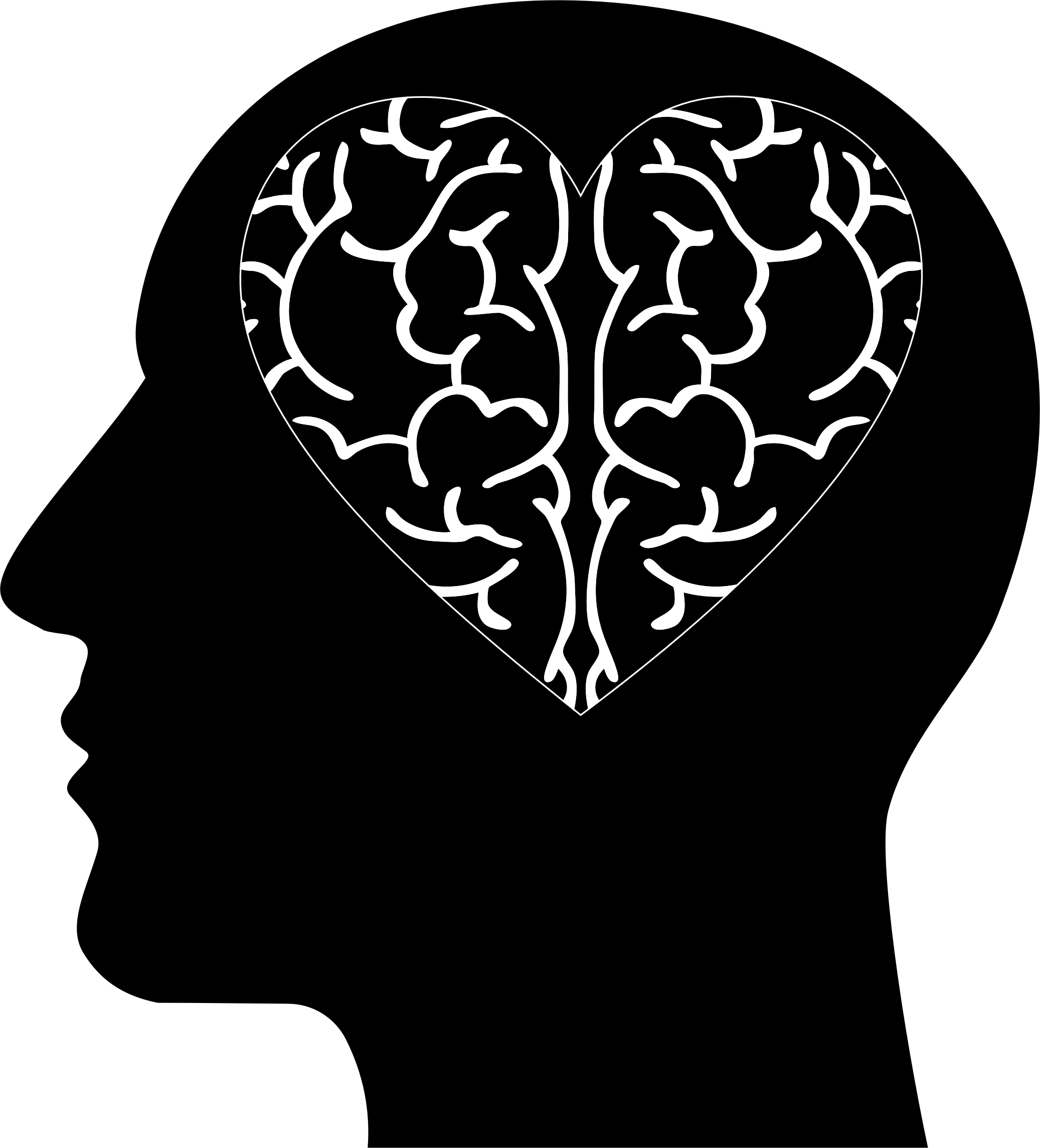 clipart free stock Heart big image png. Mental clipart brain head.