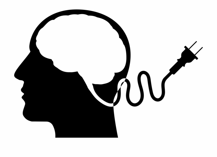 black and white Mental clipart silhouette. Psychology today health free