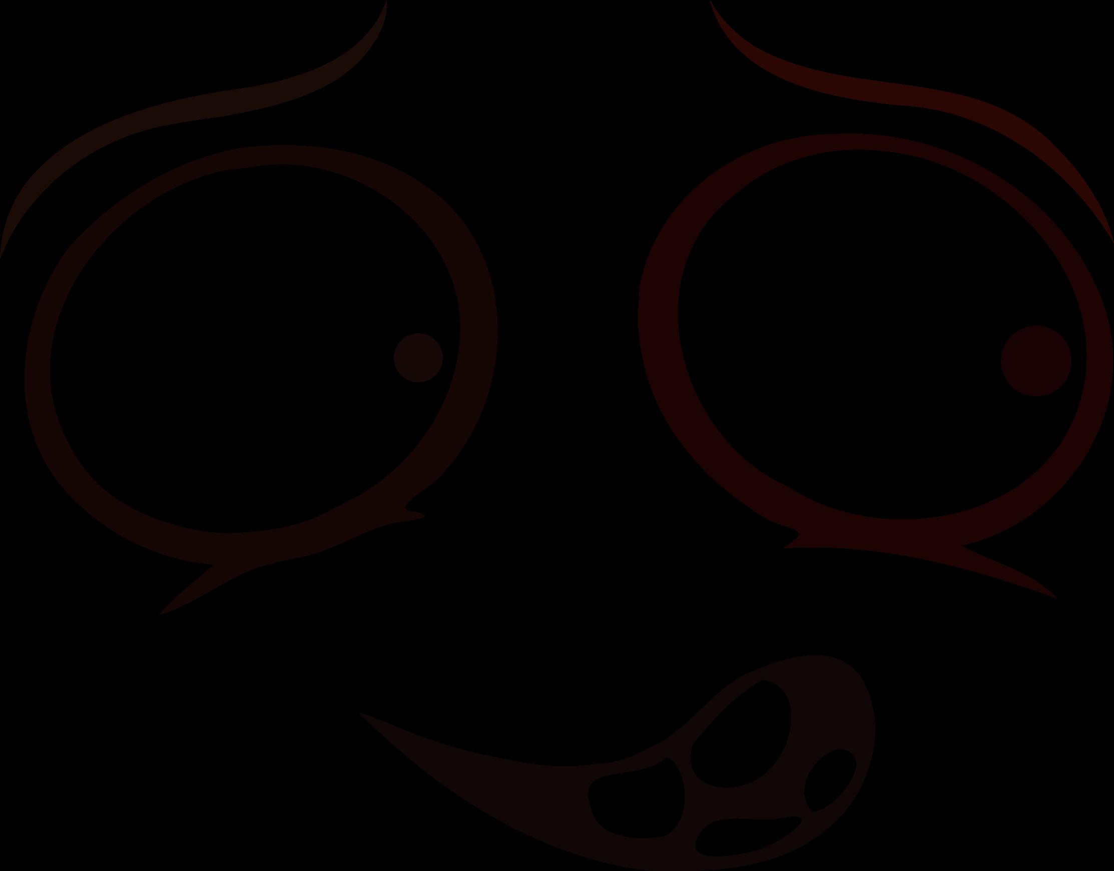 freeuse stock Clipart mentally deranged smiley. Vector emojis silhouette
