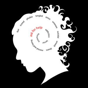 clipart free library Illness image cameo of. Mental clipart silhouette