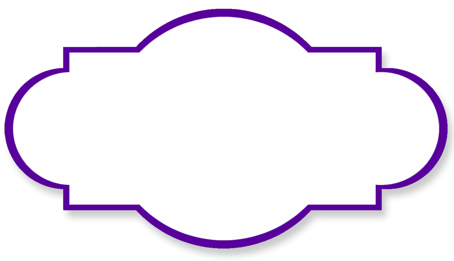 png transparent stock Label shapes clipart. Purple swirl border templates.