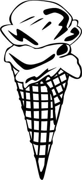 royalty free stock Cones ff menu clip. Ice cream clipart black and white