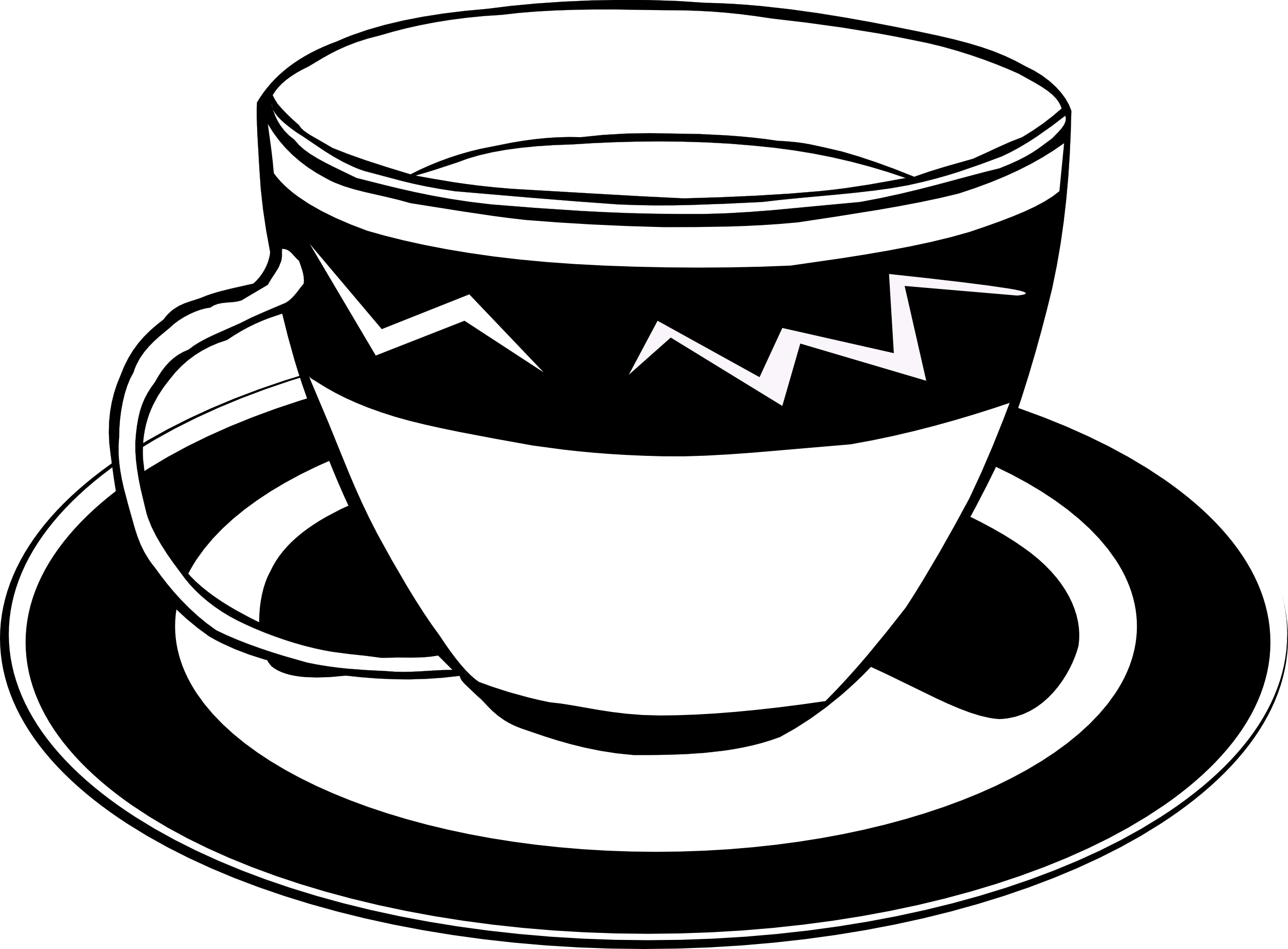image library Ff menu black white. Teacup clipart free